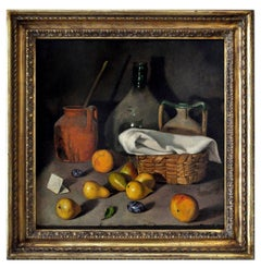 STILL LIFE - Italian oil on canvas painting, Maximilian Ciccone