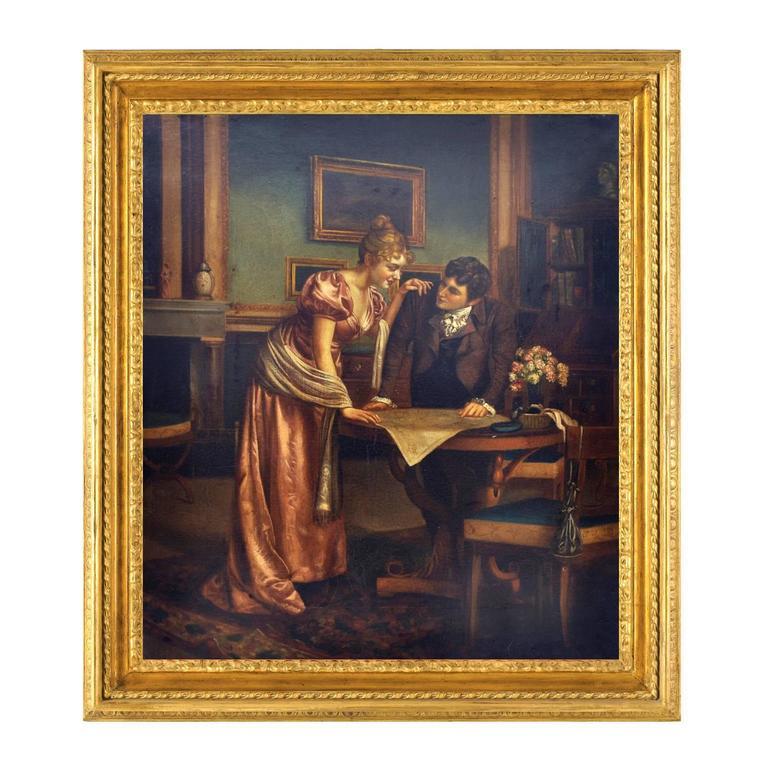 Ciro De Rosa Figurative Painting - ROMANTIC READINGS