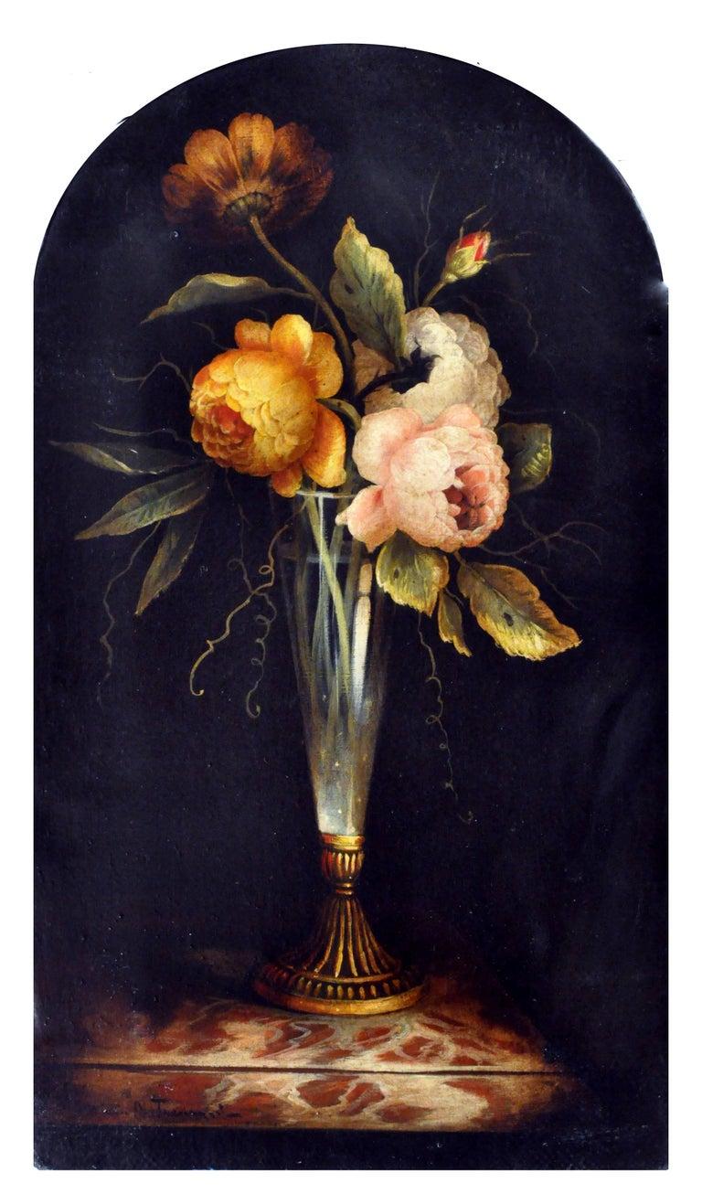 Carlo De Tommasi Still-Life Painting - FLOWERS