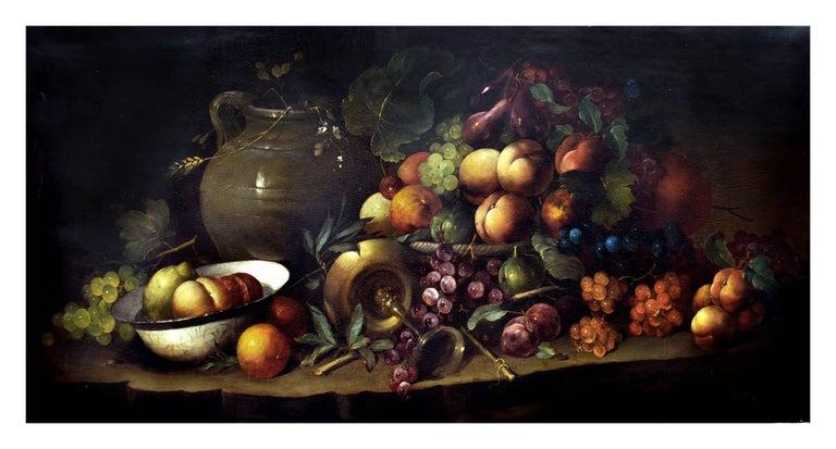 STILL LIFE - Italian oil on canvas painting, Salvatore Marinelli