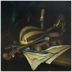 STILL LIFE WITH MISICAL INSTRUMENTS