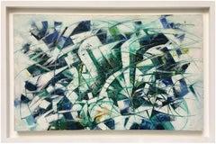 GREEN ENERGY - Italian modern oil on canvas painting, Stefano Iannone