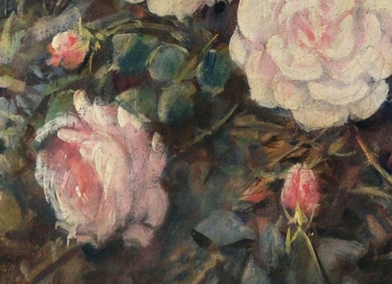 FLOWERS - Italian still life oil on canvas painting, Giovanni Bonetti - Old Masters Painting by Giovanni Bonetti