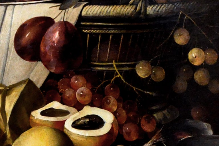 STILL LIFE - Italian oil on canvas painting, Salvatore Marinelli - Black Still-Life Painting by Salvatore Marinelli