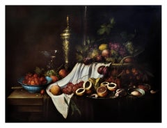 STILL LIFE - Italian oil on canvas painting, Salvatore Marinelli