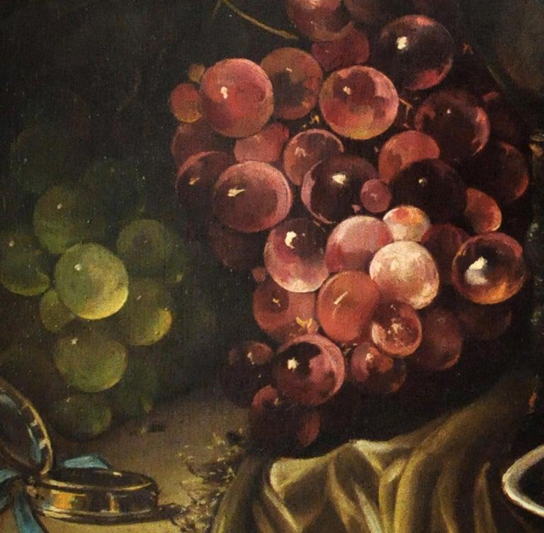 STILL LIFE - Italian oil on canvas painting, Salvatore Marinelli - Old Masters Painting by Salvatore Marinelli