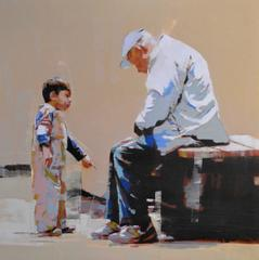 Young Boy with Old Man