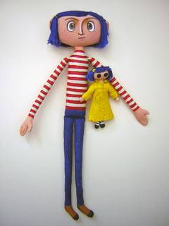 Coraline and her doll, [ two piece set ]