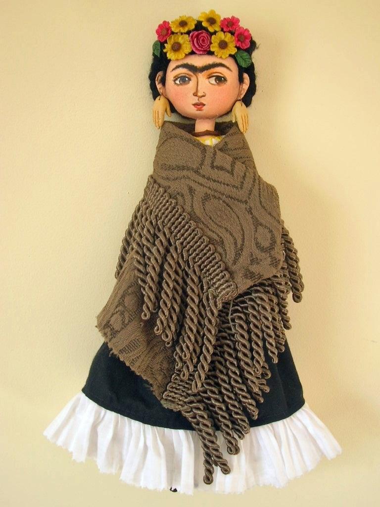 Margarita Hern 225 Ndez Maxson Frida Kahlo Art Doll I Mixed Media At 1stdibs