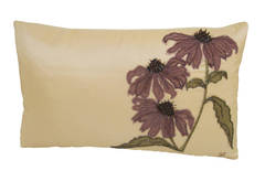 Cone Flower Silk Tafetta Pillow