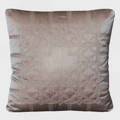 Geometric Beaded Silk Pillow