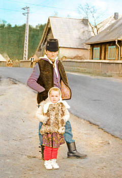 Father and child, Maramures Romania,1995
