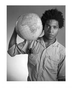 Untitled (Basquiat with Globe), c. 1985 Edition of 250