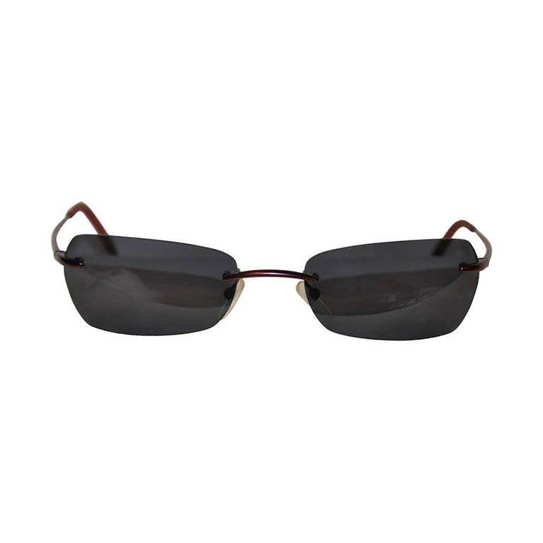 Kenzo Purple Hardware Frame Sunglasses