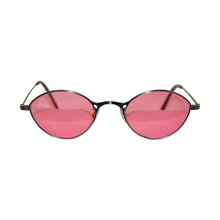 Oliver People Silver Frame with Rose Sunglasses 1