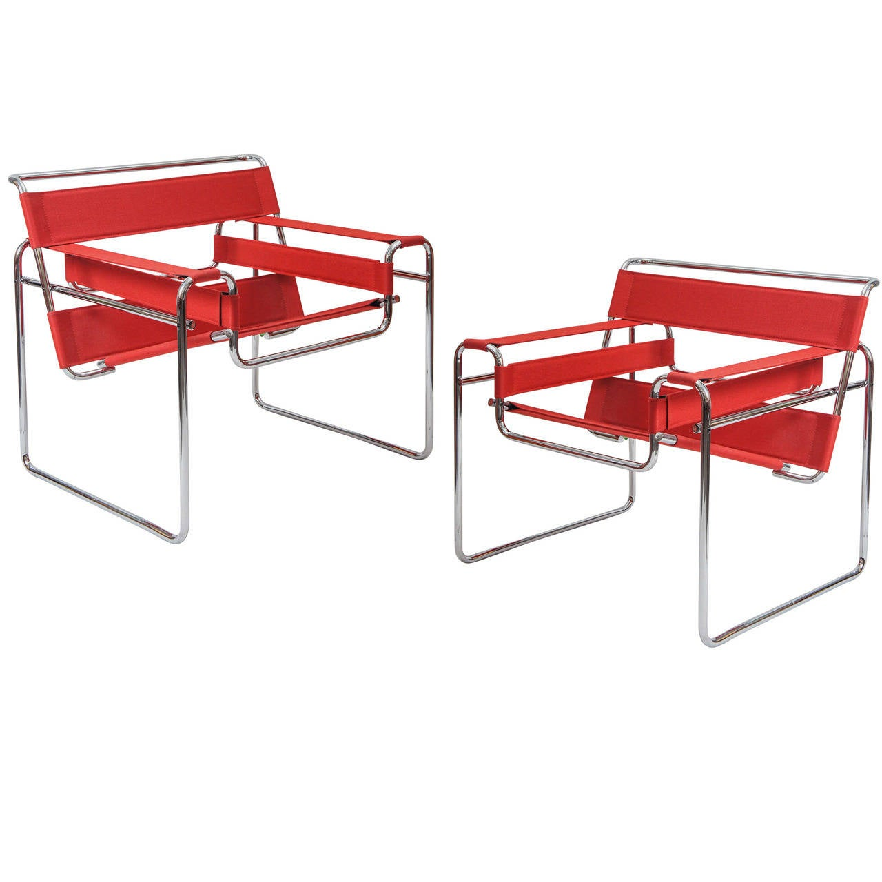 Pair Of Knoll Studio RED Wassily Chairs, Model B3