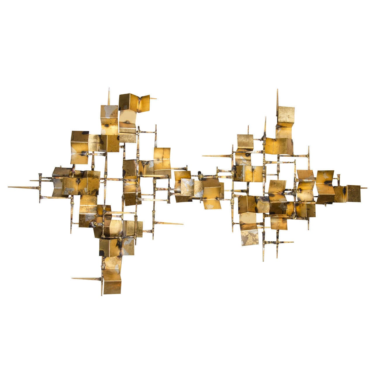 Mid century modernist brutalist wall sculpture in the for 14 wall street 20th floor new york new york 10005