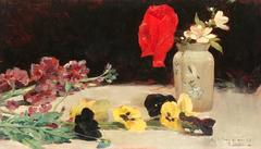 Still Life with Flowers on a Table