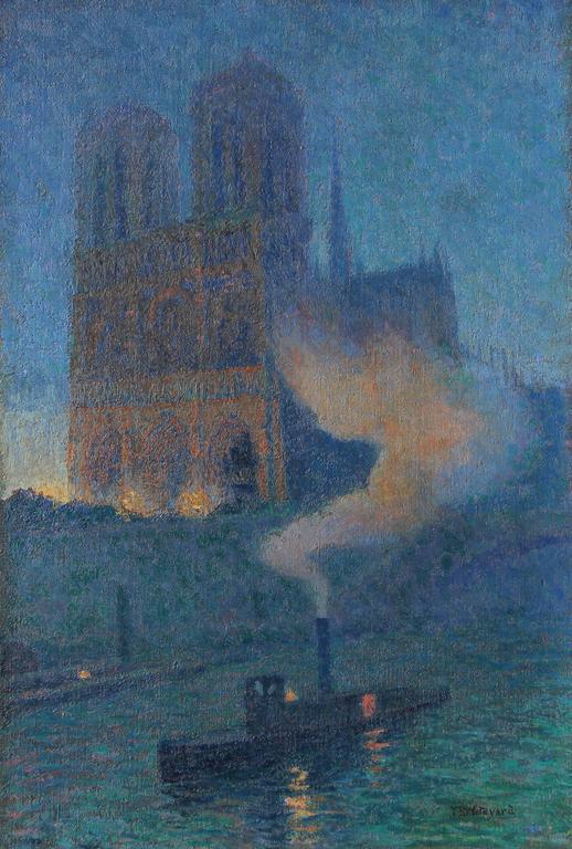 Thomas Buford Meteyard Notre Dame De Nuit Painting For
