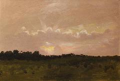 Sunburst, Santa Barbara, Oil on Paper, 1903, American