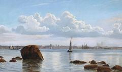 Coastal View, Oil on Canvas, Signed and Dated Chr. Blache 90, Danish
