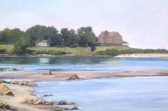 Low Tide on Fishers Island, Oil on Panel, Signed Buchanan, American Contemporary