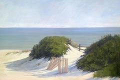 Steps Beach, Nantucket, Oil on Panel, American Contemporary