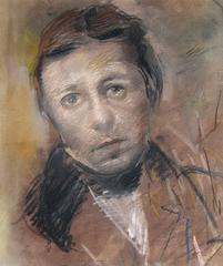 Portrait of the Painter J.A.D. Ingres, Pastel on Paper, American