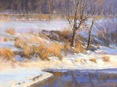 Winter Evening, Pastel on Paper, American