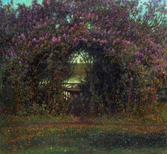Anselm Schultzberg - The Secret Garden, Oil on Canvas, Anselm Schultzberg, Swedish
