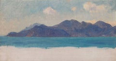 A Mediterranean Coastal Study, Oil on Panel, Sir Ernest Waterlow, British
