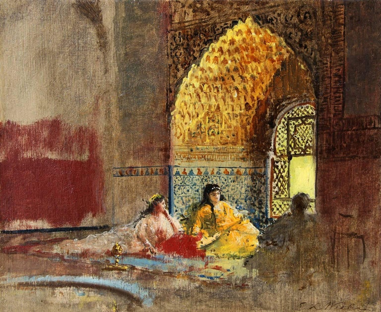 Interior of La Torre des Infantas, The Alhambra, Edwin Lord Weeks, 1880