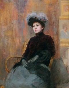 Portrait of a Lady, Oil on Panel, John Henry Vanderpoel, American
