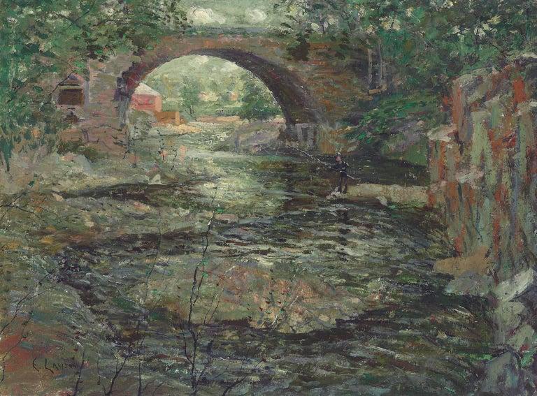 Old Stone Bridge, Oil on Canvas, Ernest Lawson, American