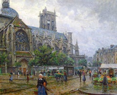 Church of St. Jacques, Dieppe, Oil on Canvas, Paul Hoeniger, German