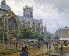 Church of St. Jacques, Dieppe, Oil on Canvas, Paul Hoeniger, German