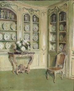 Porcelains, Château du Bréau, Oil on Canvas, Walter Gay, American