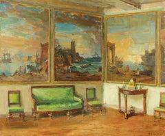 Panneaux Décoratifs, Oil on Canvas, Walter Gay, American