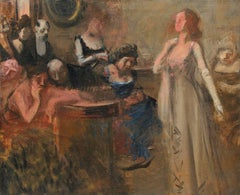 The Recital, Oil on Canvas, Jean-Louis Forain, French