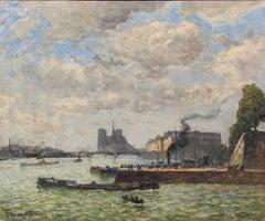 Le Quai Henri IV et Nôtre Dame - Frank Myers Boggs - Impressionist - American