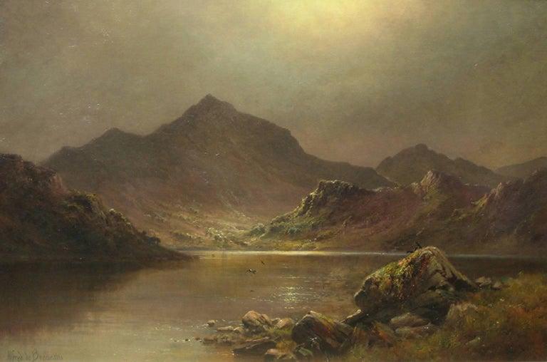 Snowdon at Midnight - Alfred de Breanski, Sr. -