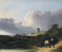 JOHN CROME - A View near Woodbridge, Suffolk - John Crome - British