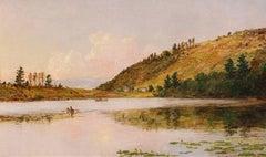 Boating on Greenwood Lake - Jasper Francis Cropsey - American - 1890