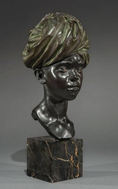 """Dar-Dar"" - the Little Erythrean Soldier - Sculpture - Bronze - 1928 - Italian"