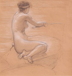 "Study for ""A Nymph of the Stream"""