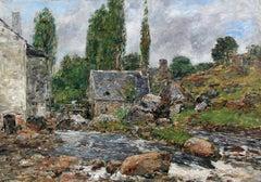 Pont-Aven - La Rivière après la Pluie - Eugène Boudin - Oil on Canvas - French