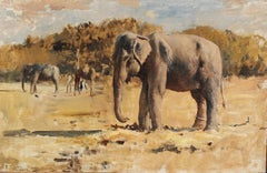 Elephants of Bekanir - Oil on Canvas - American