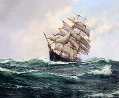 "The ""Carrie Reed"" under Full Sail, Oil on Canvas, British Maritime"