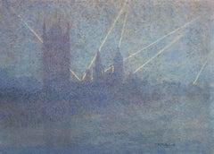Searchlights, Houses of Parliament, London - Thomas Buford Meteyard