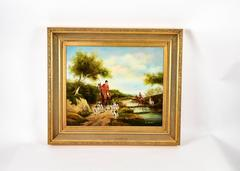 Antique English Fox Hunt Oil Painting Signed by Artist